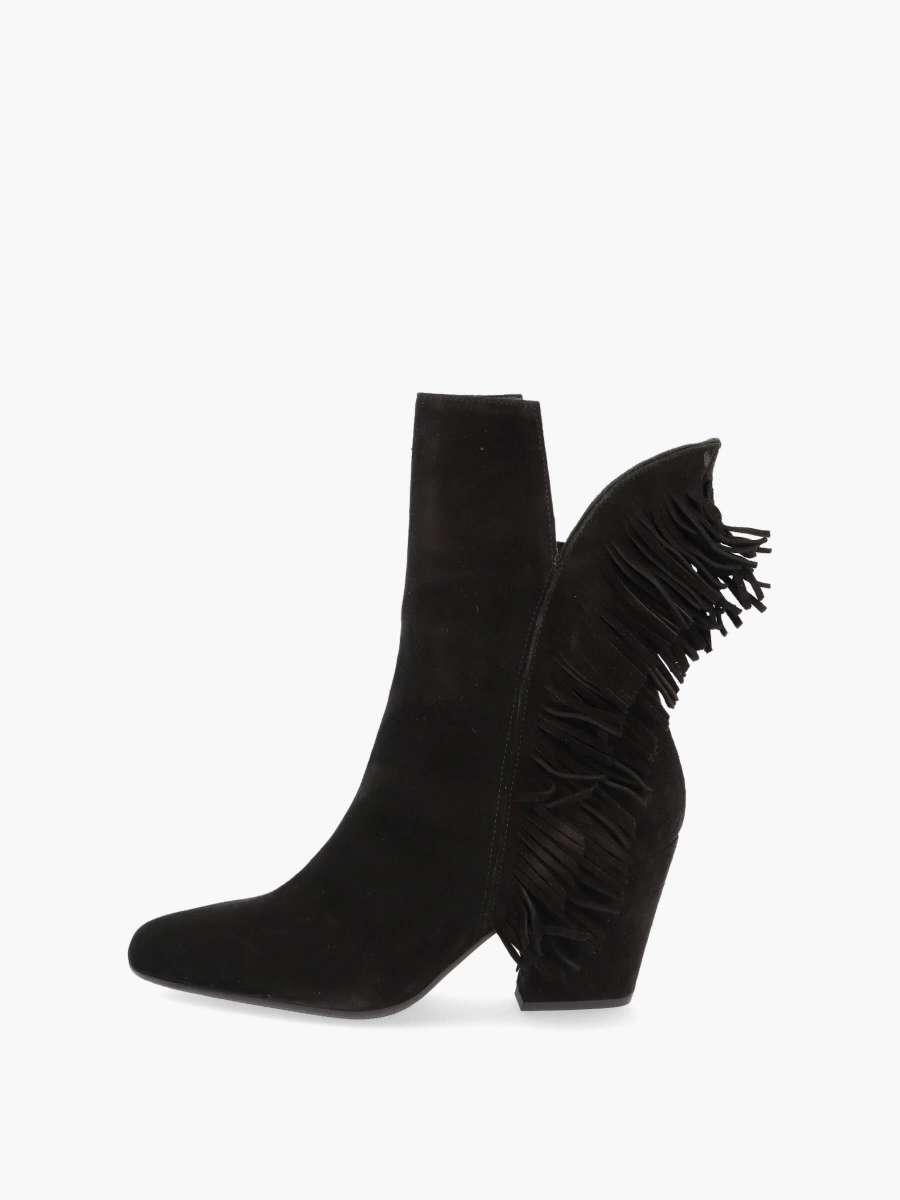 Fringe boots nero