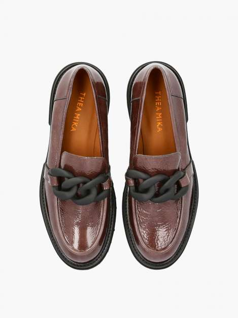 Loafer taupe patent