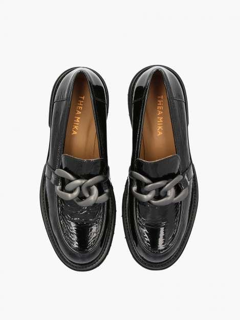 Loafer nero patent